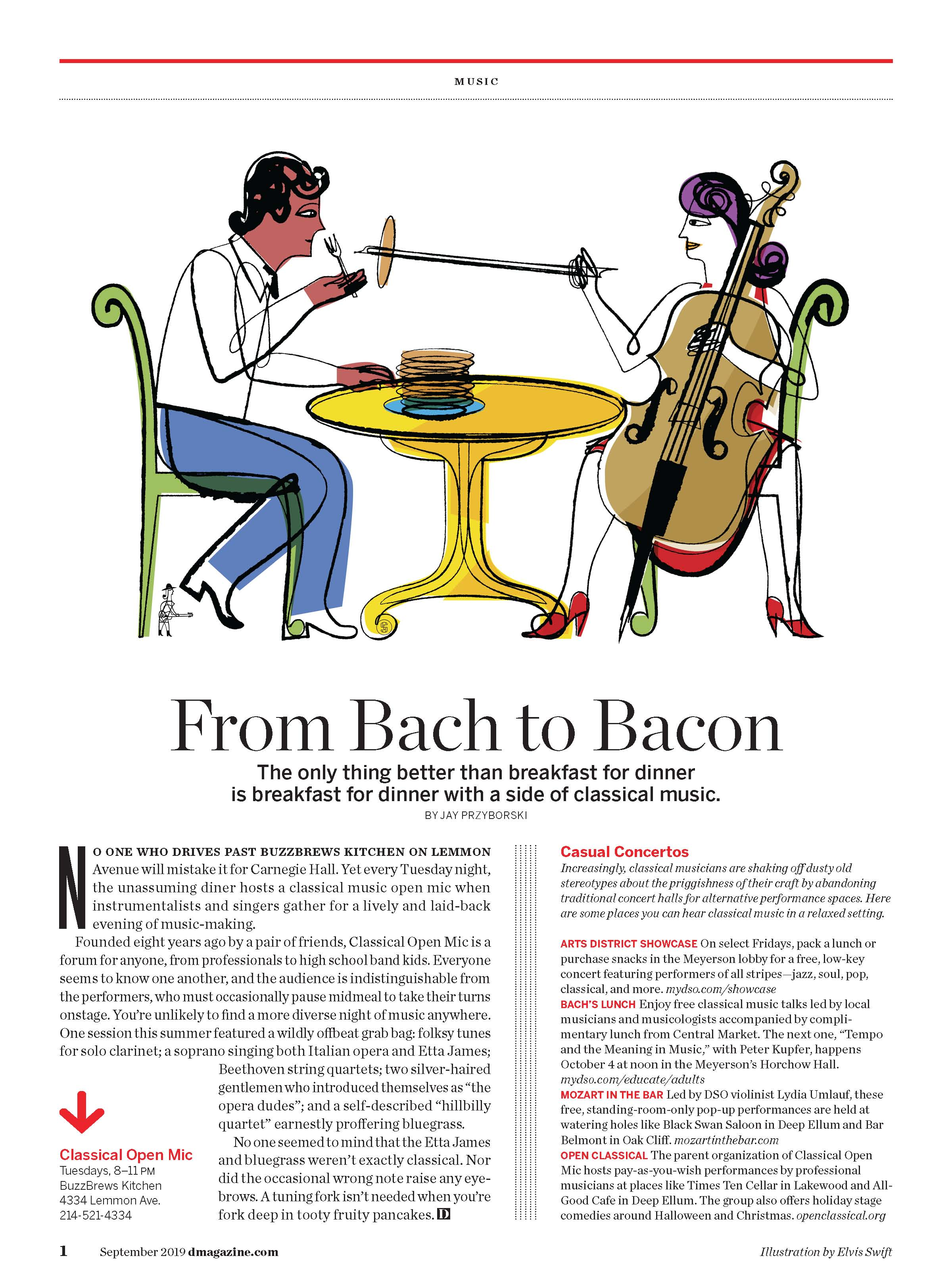 Theispot com - Elvis Swift Illustrates Bach with a Side of Bacon