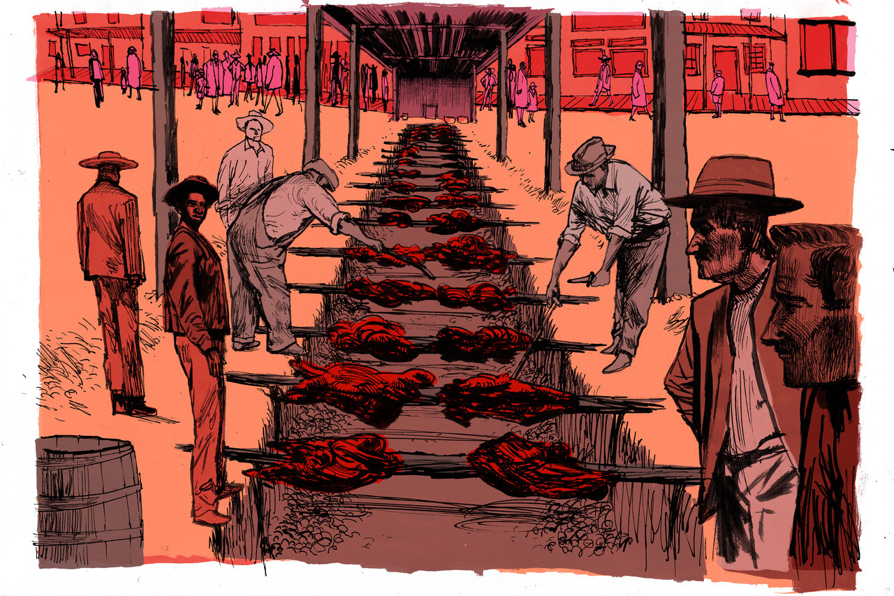 Theispot com - Matt Rota Illustration: The History of Texas BBQ