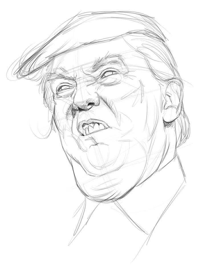 Jason Seiler Illustration Trump Studies
